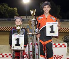 Levi Leutz- Cameron Krezman - Fast Frldays Motorcycle Speedway