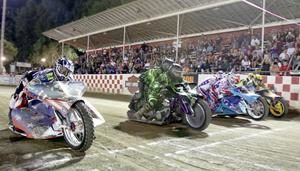 Extreme Sidecar start - Fast Fridays Motorcycle Speedway