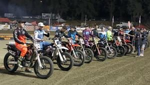 Flat Track Stars Riders Parade - Fast Fridays Motorcycle Speedway