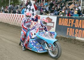 Joe Jones-Josh Flammia - Fast Fridays Motorcycle Speedway