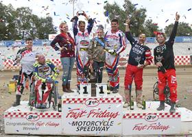 Extreme Sidecars Top Three - Fast Fridays Motorcycle Speedway